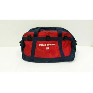 Polo Sport Duffle Gym Bag 90s Spell Out Flag